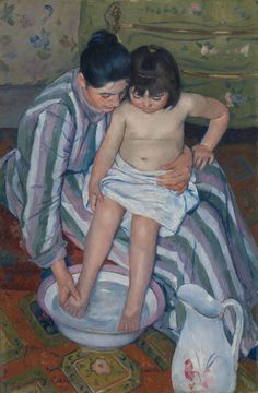 American painter Mary Cassatt beautifully captured the inner lives of French women in the century. Paintings I Love, Beautiful Paintings, Mary Cassatt Art, Impressionist Artists, Art Case, Post Impressionism, Art Institute Of Chicago, Art Studies, Mother And Child