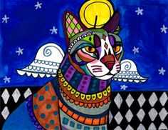 """Cat angel"" par Heather Galler"