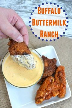 Buffalo Buttermilk Ranch Dressing Dip Recipe for Game Day Wings