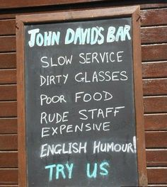 40 Funny and Creative Chalkboard Bar Signs, funny bar signs, funny chalkboard signs, funny bar chalkboards, funny pub signs Funny Bar Signs, Pub Signs, Witty Quotes, Find Quotes, Chalkboard Bar, Dictionary Words, Funny Names, Guerilla Marketing, Life Motivation