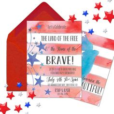 Fourth of July Party 4th of July by BradfordPartyDesigns on Etsy
