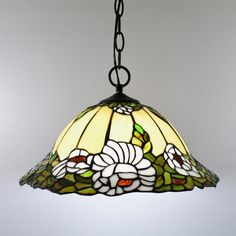 Pastoral Flowers Dining Room Pendent Lamp Tiffany Hallway Pendent Lamp Romantic Balcony Pendent Lamp