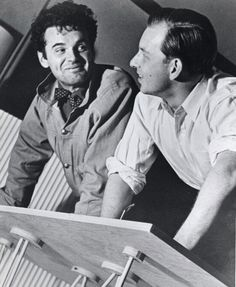 "Charles Eames and Eero Saarinen (pictured above) took first prize for their ""Organic Chair,"" which they designed for the ""Organic Design in Home Furnishings"" competition held by MOMA of New York in 1940."
