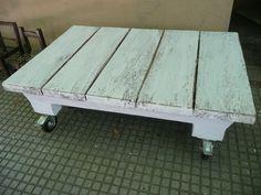 mesa ratona rustica madera tablones reciclar reciclado