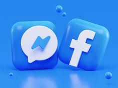 Messenger & Facebook Icons Concept by Alexander Shatov on Dribbble Facebook Face, Facebook Users, Facebook Business, Facebook Followers, Business News, Block Facebook, Open Facebook, Facebook Content, 3d Design