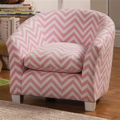 Charlotte Traditional Pink Wood Fabric Kid's Chair