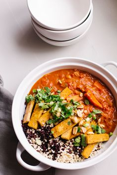 Please use non GMO soy and brown rice. Carrot Coconut Curry with Crispy Tofu. Go and swap the tofu for tempeh or chickpeas! Tofu Recipes, Indian Food Recipes, Asian Recipes, Vegetarian Recipes, Cooking Recipes, Healthy Recipes, Curry Recipes, Diet Recipes, Crispy Tofu