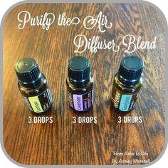 Purify the Air Diffuser Blend Follow me on Instagram: https://www.instagram.com/fromashstooilsbyashley/ Order your oils at: http://mydoterra.com/teamwhitesell