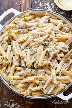 Creamy Mushroom Chicken Pasta (One-Pot)