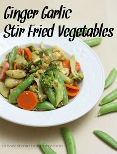 Ginger Garlic Stir Fried Vegetables - easy Chinese food made paleo-friendly and gluten-free