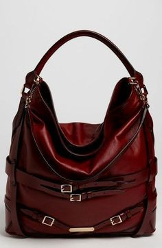 fcdc110be198 Burberry Leather Hobo~so divine!  style  handbag  hobohandbagsdesigner hobo  handbags outfit. Miu ...