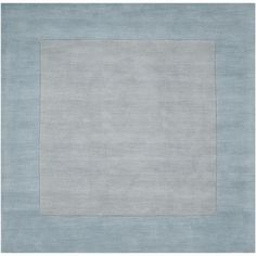 Hand-loomed construction and a plush, high pile accent this beautiful wool rug. Light blue hues highlight this area rug.