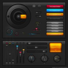 Tech UI elements by ~cyrixDesign on deviantART