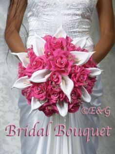 bridal flowers, I really like the way this looks, but with different colored flowers