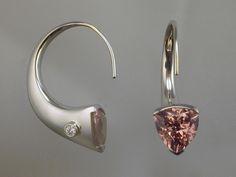 Pink Tourmalines, Diamonds,18k White Gold! Artist: Karen Keit