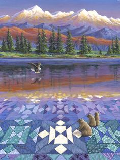 Rebecca Barker's Quiltscapes - She sells cards, prints and originals ($2,200)