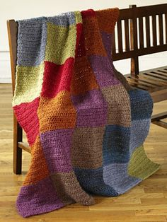 Simple Modern Squares. Free pattern from Lion Brand.