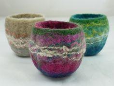 Mini Finnish Felt Pink Bowl 1 | von Natasha Smart Textiles