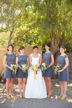 Tracy Reese bridesmaids dresses.