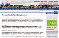 Kentucky School News and Commentary: FCPS redistricting committee to present final reco...
