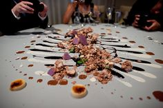 Alinea, Chicago, IL: This Is What Food from Michelin-Starred Restaurants Looks Like.  And obviously the guests are impressed...