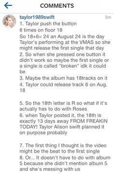 I don't really believe this. But I love that there's a rumor she might release a single on my birthday BECAUSE TAYLOR LOVES ME.