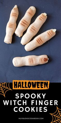 Are you looking for a fun baking project with your kiddos? These creepy looking witch finger cookies are fun for a ghoulish Halloween party. Bueno Recipes, Witch Finger Cookies, Witches Fingers, Sugar Cookie Dough, No Bake Cookies, Recipe Collection, Mexican Food Recipes, Baked Goods, Yummy Food