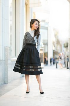 Sheer Bliss :: Faille skirt