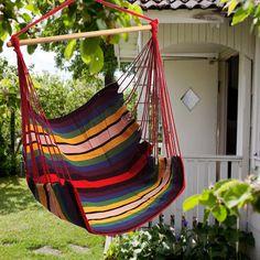 Garden Patio Hanging Thicken Hammock Chair Indoor Outdoor Cotton Swing Cushion Seat at Banggood