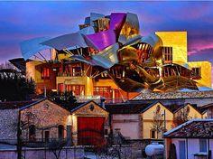 Marqués de Riscal Hotel, La Rioja, Spain. #wine #vineyard