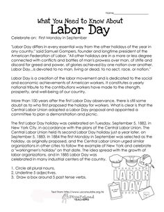 What You Need to Know About Labor Day- free printable worksheet for kids! (history, purpose, etc.)