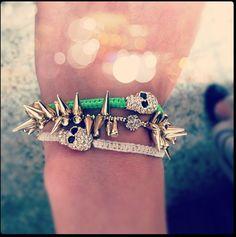 Stella & Dot spike bracelet, Chichime skull bracelets