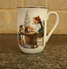 1982-Norman-Rockwell-For-A-Good-Boy-Cup-Mug-The-Norman-Rockwell-Museum