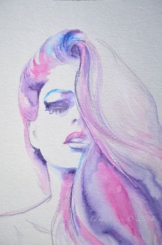 Fashion Watercolor Original Illustration by LanasArt.etsy.com                                                                                                                                                                                 More