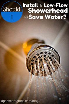 Installing a low-flow showerhead can decrease your shower water usage by about half! Save money and go green at the same time ~ http://walkinshowers.org/best-low-flow-shower-head-reviews.html