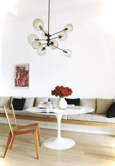 tulip-table-round-carrara-rove-concepts-rove-classics-mid-century-furniture - The world's most private search engine Built In Sofa, Built In Seating, Built Ins, Dining Nook, Dining Room Design, Dining Bench, Nook Table, Dining Tables, Tulip Table