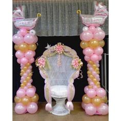 Winsome Ideas for Baby Shower Decorations Planning Balloon Backdrop, Balloon Columns, Balloon Garland, Balloon Decorations, Baby Shower Decorations, Balloon Ideas, Classy Baby Shower, Simple Baby Shower, Baby Shower Winter