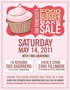 bakesale poster - Google Search