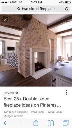 Double Sided Fireplace, Log Burner, Bathtub, Interior, Room, Home Decor, Standing Bath, Bedroom, Bathtubs