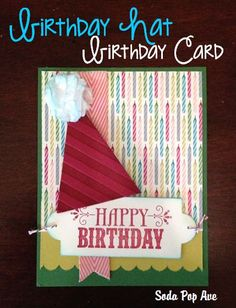 I feel like I am always in need of a birthday card and then I go to the   store and see that just for the card it is $5! What is the deal!? Due to   this, and the fact that I think homemade cards are adorable, I like to make   the birthday cards I give to people if I can...