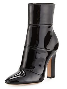 Gianvito Rossi - Patent Leather Ankle Boot in Black