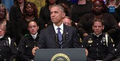 President Obama referred to himself 45 times over the course of the speech he delivered Tuesday at the memorial service for the five police officers killed in Dallas last week.    Obama referred to hi