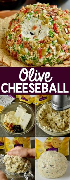 This delicious Olive Cheeseball needs to be part of your next cocktail party! This delicious Olive Cheeseball needs to be part of your next cocktail party! Holiday Appetizers, Finger Food Appetizers, Yummy Appetizers, Appetizer Recipes, Holiday Recipes, Tailgate Appetizers, Wine Appetizers, Wedding Appetizers, Antipasto