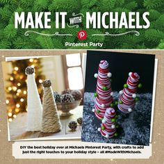 Michaels Holiday Pinterest Party DIY Yarn Tree