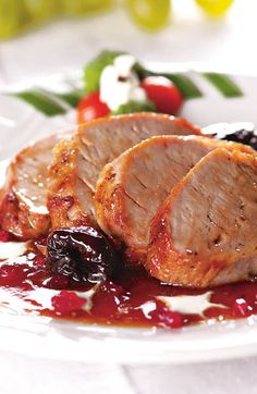 Photo about Grilled pork meat with dry plum and red currant jam. Image of dinner, meat, delicacy - 2106062 Pork Recipes, Cooking Recipes, Healthy Recipes, Chicken Avocado Soup, Pork Meat, Fish And Meat, Grilled Pork, Fett, I Foods