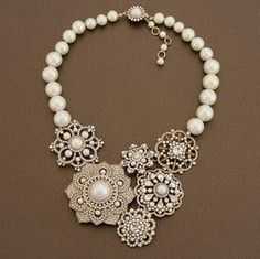 Vintage jewelry crafts - Click image to find more DIY & Crafts Pinterest pins