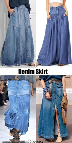 Jeans Dress, Denim Skirt, Ashley Clothes, Designer Plus Size Clothing, Chic Outfits, Fashion Outfits, Quoi Porter, Bohemian Chic Fashion, Fairy Clothes
