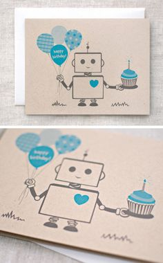 Robot Birthday Card Idea