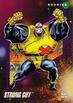 Strong Guy Photo: Marvel Universe Series 3 This Photo was uploaded by Marvel Comic Character, Marvel Comic Books, Marvel Characters, Marvel Movies, Gambit Marvel, Marvel X, Marvel Heroes, Xmen, Marvel Universe