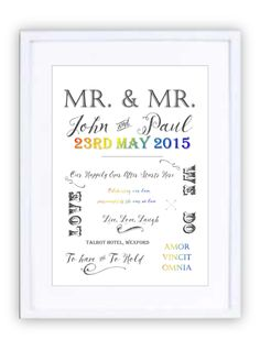 Wedding Style 2 Personalised Prints, New Beginnings, Wedding Styles, Framed Prints, In This Moment, Wedding Outfits